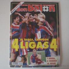 Coleccionismo deportivo: REVISTA DON BALON Nº968 FC.BARCELONA CAMPEÓN DE LIGA 1994. Lote 42101107