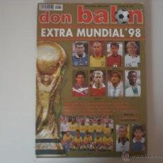 Coleccionismo deportivo: EXTRA DON BALÓN MUNDIAL FRANCIA'98 (EXTRA Nº39). Lote 42101509