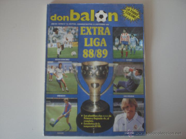 REVISTA DON BALÓN EXTRA LIGA 88/89 (EXTRA Nº 16) (Coleccionismo Deportivo - Revistas y Periódicos - Don Balón)