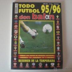 Coleccionismo deportivo: REVISTA DON BALÓN TODO FÚTBOL 95/96 (Nº 33). Lote 42132010