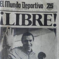 Coleccionismo deportivo: DIARIO MUNDO DEPORTIVO SECUESTRO QUINI 1981 - LIBERACION ENRIQUE CASTRO LIBRE BARÇA - FC BARCELONA. Lote 42193146