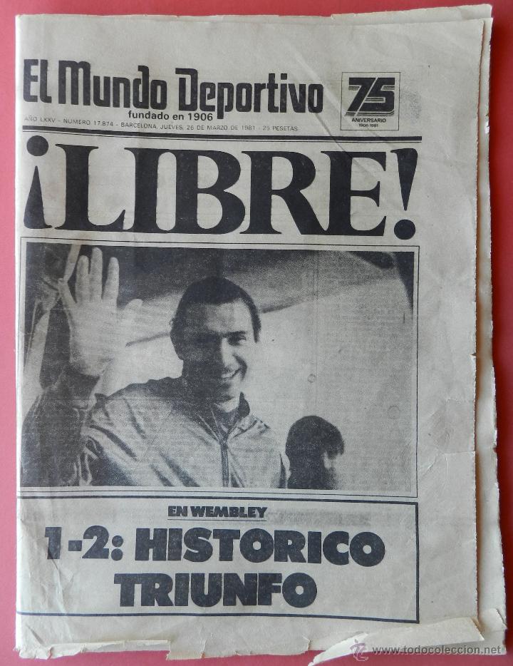 Coleccionismo deportivo: DIARIO MUNDO DEPORTIVO SECUESTRO QUINI 1981 - LIBERACION ENRIQUE CASTRO LIBRE BARÇA - FC BARCELONA - Foto 2 - 42193146