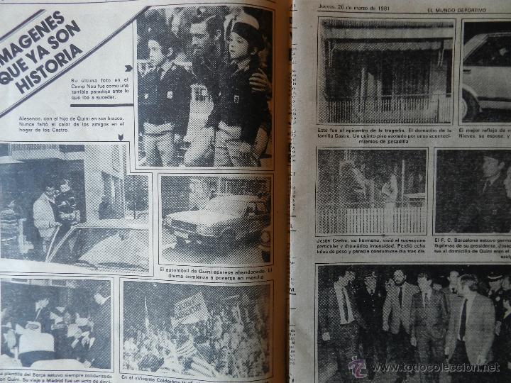 Coleccionismo deportivo: DIARIO MUNDO DEPORTIVO SECUESTRO QUINI 1981 - LIBERACION ENRIQUE CASTRO LIBRE BARÇA - FC BARCELONA - Foto 4 - 42193146