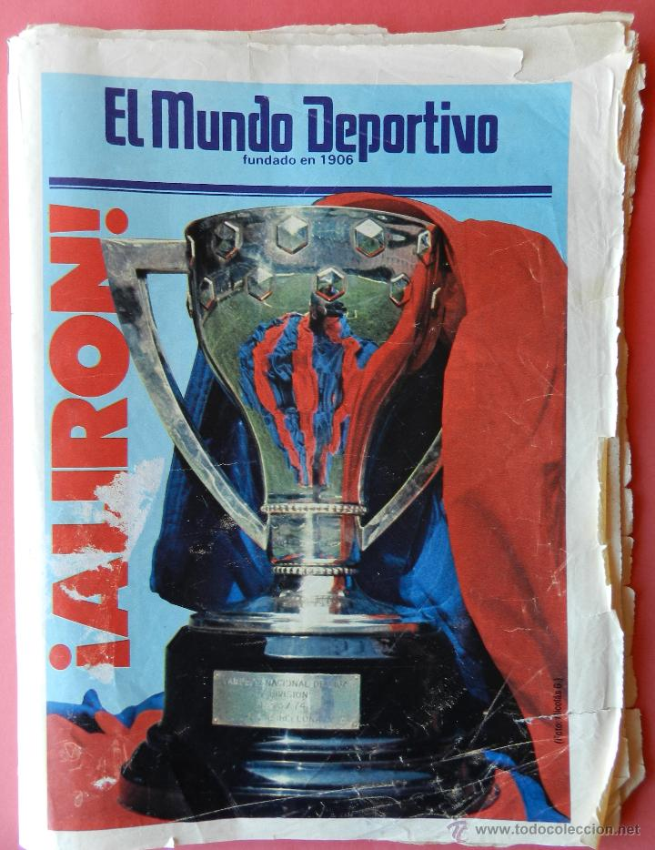 Coleccionismo deportivo: DIARIO MUNDO DEPORTIVO FC BARCELONA CAMPEON LIGA 84/85 - ESPECIAL ALIRON BARÇA TEMPORADA 1984/1985 - Foto 2 - 42193282