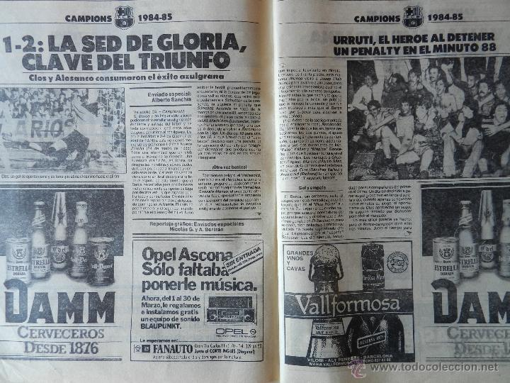 Coleccionismo deportivo: DIARIO MUNDO DEPORTIVO FC BARCELONA CAMPEON LIGA 84/85 - ESPECIAL ALIRON BARÇA TEMPORADA 1984/1985 - Foto 4 - 42193282