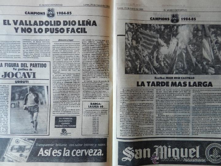 Coleccionismo deportivo: DIARIO MUNDO DEPORTIVO FC BARCELONA CAMPEON LIGA 84/85 - ESPECIAL ALIRON BARÇA TEMPORADA 1984/1985 - Foto 5 - 42193282