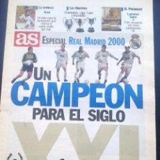 Coleccionismo deportivo: AS ESPECIAL REAL MADRID 2000 UN CAMPEON PARA EL SIGLO XXI,. Lote 42287968