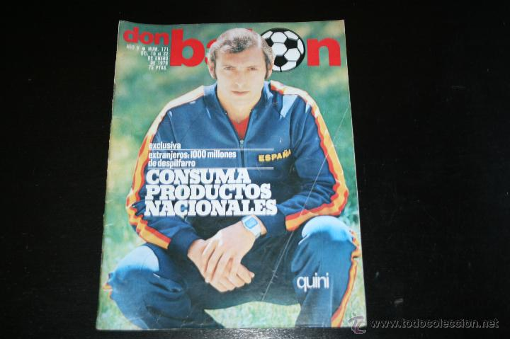REVISTA DON BALÓN Nº 171 ENERO 1979 (Coleccionismo Deportivo - Revistas y Periódicos - Don Balón)
