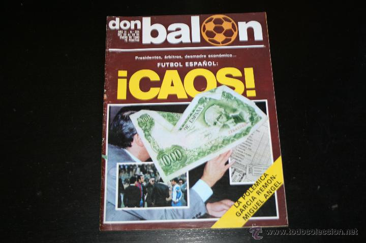 REVISTA DON BALÓN Nº 224 ENERO 1980 (Coleccionismo Deportivo - Revistas y Periódicos - Don Balón)