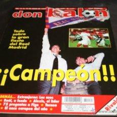 Coleccionismo deportivo: REVISTA DON BALÓN Nº 1131 JUNIO 1997 R. MADRID CAMPEÓN DE LIGA 96-97. Lote 42429963