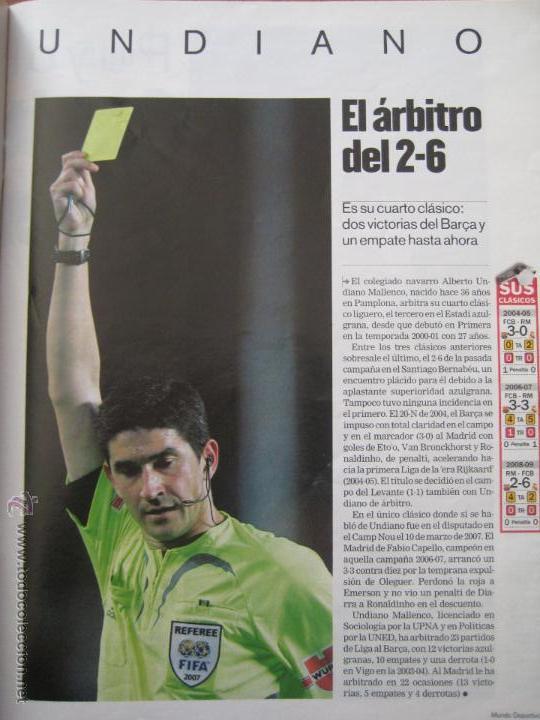 Coleccionismo deportivo: REVISTA MUNDO DEPORTIVO - ESPECIAL BARÇA MADRID - EL PARTIDO DEL SIGLO - 29/11/2009 - Foto 2 - 42519175