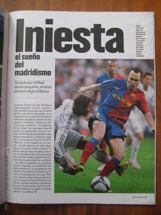 Coleccionismo deportivo: REVISTA MUNDO DEPORTIVO - ESPECIAL BARÇA MADRID - EL PARTIDO DEL SIGLO - 29/11/2009 - Foto 4 - 42519175