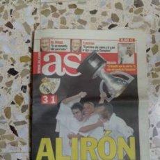 Coleccionismo deportivo: DIARIO AS. 23 JUNIO 2003. ALIRON. REAL MADRID. Lote 42577119