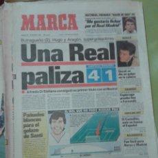Coleccionismo deportivo: DIARIO PERIÓDICO MARCA 13 DE DICIEMBRE 1990, SUPERCOPA REAL MADRID 4-1 BARCELONA, GOL DE ARAGÓN. Lote 42581228
