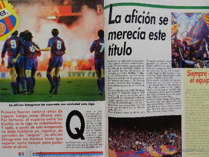 Coleccionismo deportivo: EXTRA DIARIO SPORT BARÇA CAMPEON LIGA 1990/1991 - FC BARCELONA CAMPIONS 90-91 SUPLEMENTO ESPECIAL - Foto 3 - 42596396
