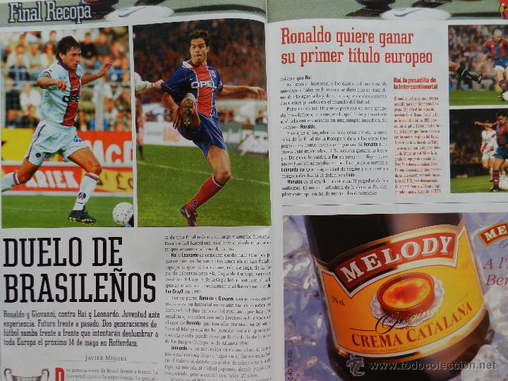 Coleccionismo deportivo: EXTRA DIARIO SPORT PREVIO BARÇA CAMPEON RECOPA 1997 FC BARCELONA 96/97 SUPLEMENTO ESPECIAL PSG - Foto 2 - 42596523