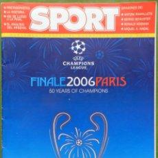 Coleccionismo deportivo: EXTRA DIARIO SPORT PREVIO BARÇA CAMPEON CHAMPIONS LEAGUE 2006 FC BARCELONA 05/06 SUPLEMENTO PARIS. Lote 42596803