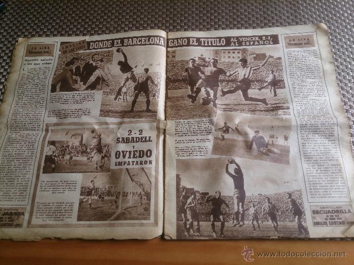 Coleccionismo deportivo: muy antiguo periódico Marca año 1949. EL BARCELONA CAMPEÓN - Foto 3 - 42620843