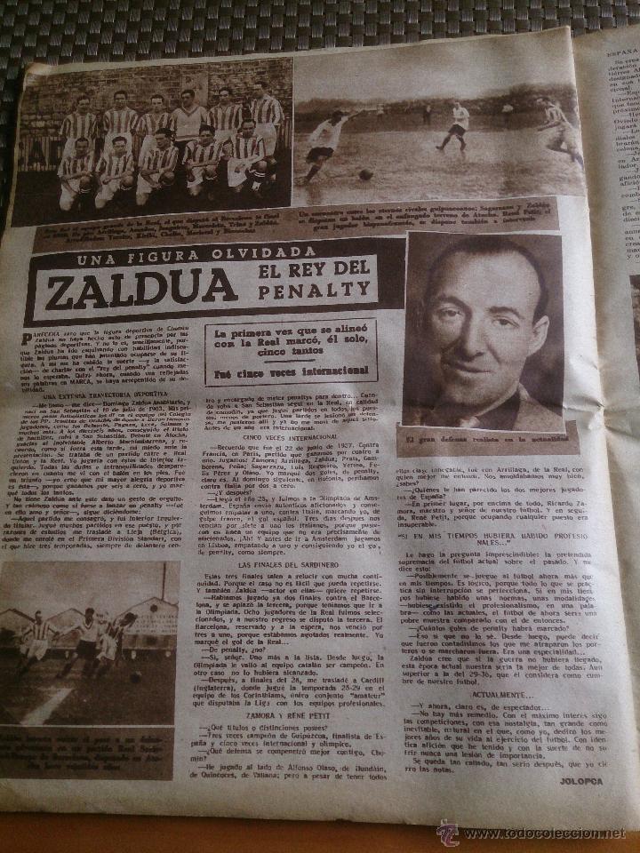 Coleccionismo deportivo: muy antiguo periódico Marca año 1949. EL BARCELONA CAMPEÓN - Foto 5 - 42620843