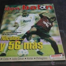 Coleccionismo deportivo: REVISTA DON BALÓN Nº 1246 SEPTIEMBRE 1999 POSTER ZARAGOZA. Lote 42657239