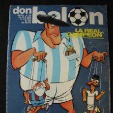 Coleccionismo deportivo: REVISTA DON BALON 342 REAL SOCIEDAD CAMPEON. Lote 42675269
