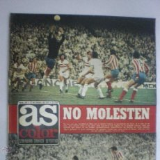 Coleccionismo deportivo: AS COLOR-Nº139-15/01/1974-AT. MADRID/REAL SPORTING DE GIJÓN-GARRINCHA-URTAIN (3)-PÓST.HÉRCULES C .F.. Lote 42855775