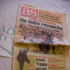 Coleccionismo deportivo: ANTIGUO PERIODICO AS - NO HUBO REVANCHA - ENVIO GRATIS A ESPAÑA . Lote 42869462