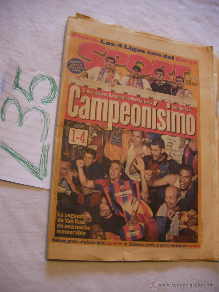 ANTIGUO PERIODICO SPORT - CAMPEONISIMO - ENVIO GRATIS A ESPAÑA (Coleccionismo Deportivo - Revistas y Periódicos - Sport)