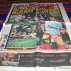 Colecionismo desportivo: MARCA 21-4-2011 REAL MADRID CAMPEÓN COPA REY FRENTE F.C. BARCELONA. REGALO LA SÉPTIMA 21-5-98 JUVE.. Lote 43006859