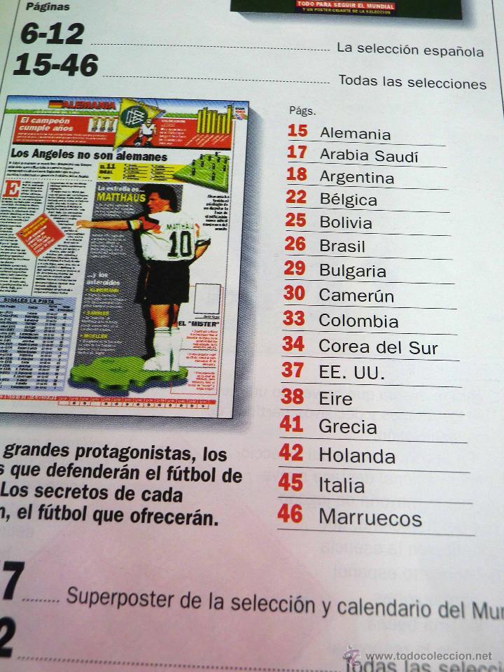Coleccionismo deportivo: REVISTA DE FUTBOL, MARCA, SUPERFUTBOL, GUIA USA 94, MUNDIAL - Foto 3 - 43107242