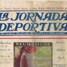 Coleccionismo deportivo: LA JORNADA DEPORTIVA PRIMER Nº ESPECIAL GRAN PREMIO PENYA RHIN 1921 -. Lote 43293569