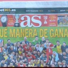 Coleccionismo deportivo: DIARIO AS - ATLETICO DE MADRID CAMPEON LIGA 13/14 - ATLETI ALIRON CAMPEONES 2013 2014 SIMEONE FINAL. Lote 43469020