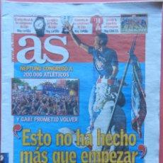 Coleccionismo deportivo: DIARIO AS - CELEBRACION NEPTUNO ATLETICO DE MADRID CAMPEON LIGA 13/14 ATLETI CAMPEONES 2013 2014. Lote 43472587
