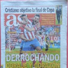 Coleccionismo deportivo: DIARIO AS - ATLETICO DE MADRID CLASIFICACION SEMIFINALES CHAMPIONS LEAGUE 13/14 - ATLETI 2013 2014. Lote 43473599