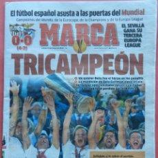 Coleccionismo deportivo: DIARIO MARCA - SEVILLA FC CAMPEON EUROPA LEAGUE 13/14 - TERCERA COPA UEFA 2013 2014 TRICAMPEON. Lote 43473691