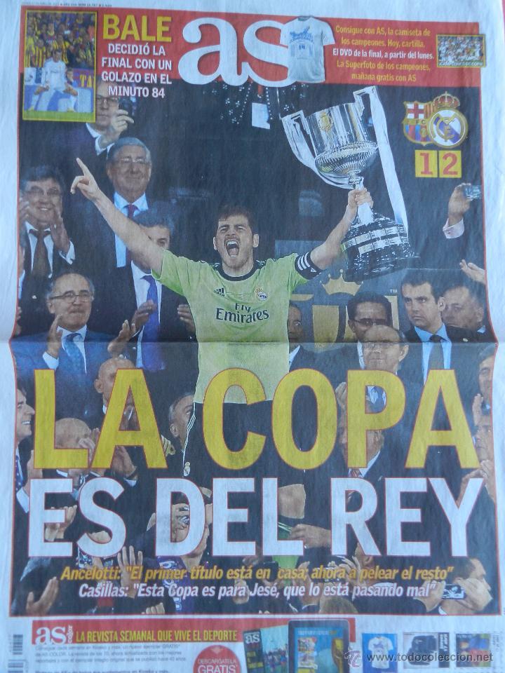 Coleccionismo deportivo: DIARIO AS - REAL MADRID CAMPEON COPA DEL REY 13/14 - CAMPEONES 2013/2014 BALE- BARÇA - Foto 2 - 118932066