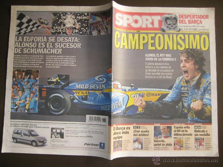 SPORT 21-09-2005 FERNANDO ALONSO CAMPEONISIMO FORMULA 1 (Coleccionismo Deportivo - Revistas y Periódicos - Sport)
