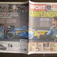 Coleccionismo deportivo: SPORT 21-09-2005 FERNANDO ALONSO CAMPEONISIMO FORMULA 1. Lote 43502474