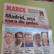 Coleccionismo deportivo: DIARIO PERIÓDICO MARCA DEL 12 DE NOVIEMBRE DE 1989, REAL MADRID 4-0 ATHLETIC DE BILBAO. Lote 43502834