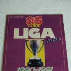 Coleccionismo deportivo: AS COLOR EXTRA LIGA 1990 1991 SESENTA EDICION DE LA LIGA NUMERO 238 REVISTA POSTER REAL MADRID. Lote 43511770