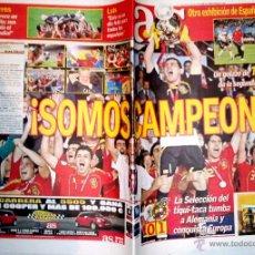 Coleccionismo deportivo: PERIODICO DIARIO AS ESPAÑA CAMPEONA DE EUROPA FINAL ESPAÑA - ALEMANIA. Lote 43563862