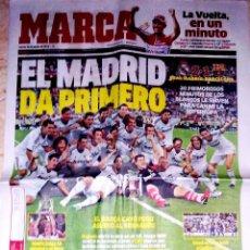 Coleccionismo deportivo: PERIODICO MARCA REAL MADRID CAMPEON DE LA SUPERCOPA AL BARCELONA. Lote 43564132