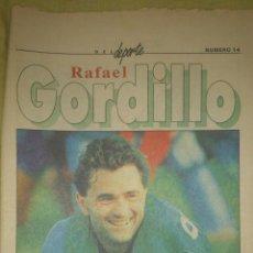 Coleccionismo deportivo: RAREZA COLECCIONISTAS ! FASCICULO ASES DEL DEPORTE Nº 14 AÑOS 90 RAFAEL GORDILLO BETIS REAL MADRID . Lote 43564460