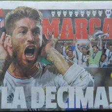 Coleccionismo deportivo: DIARIO MARCA REAL MADRID CAMPEON CHAMPIONS LEAGUE 13/14 - CAMPEONES LA DECIMA COPA EUROPA 2013 2014. Lote 118931990