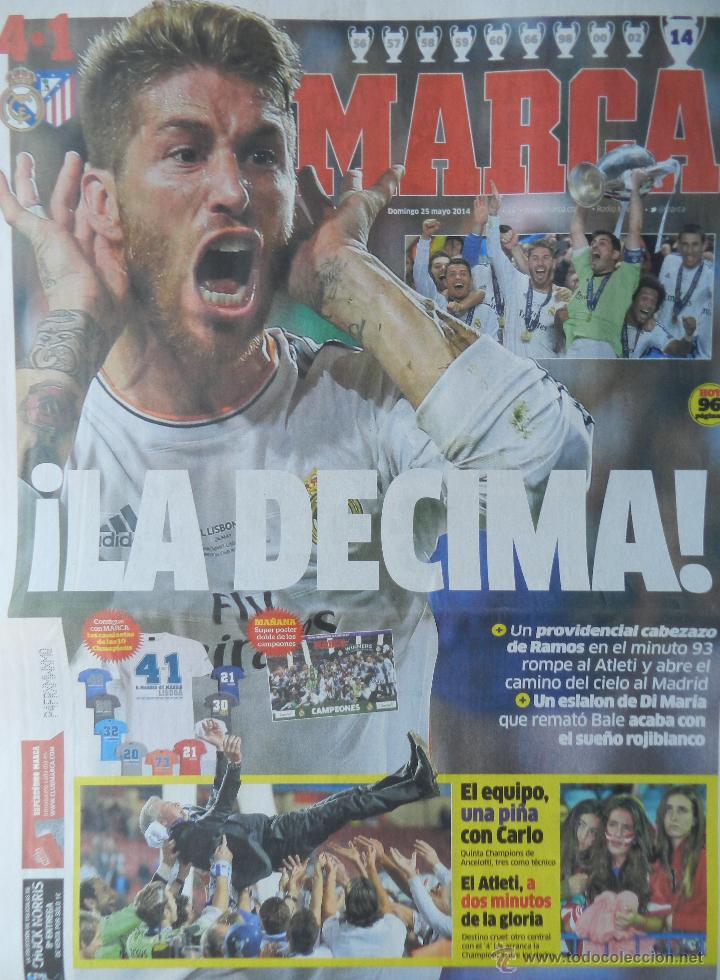 Coleccionismo deportivo: DIARIO MARCA REAL MADRID CAMPEON CHAMPIONS LEAGUE 13/14 - CAMPEONES LA DECIMA COPA EUROPA 2013 2014 - Foto 2 - 118931990