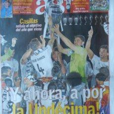 Coleccionismo deportivo: DIARIO AS REAL MADRID CAMPEON CHAMPIONS LEAGUE 13/14 CELEBRACION LA DECIMA COPA EUROPA 2013 2014. Lote 46905108