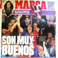 Coleccionismo deportivo: PERIODICO MARCA BARCELONA CAMPEON DE COPA 2008 FINAL CONTRA ATHLETIC BILBAO. Lote 43591449