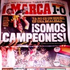 Coleccionismo deportivo: PERIODICO MARCA ESPAÑA CAMPEONA DE EUROPA FINAL CONTRA ALEMANIA. Lote 43591530