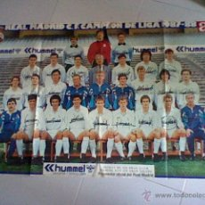 Coleccionismo deportivo: POSTER AS REAL MADRID CAMPEON 87 88 . Lote 43664152