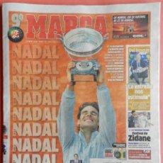 Coleccionismo deportivo: DIARIO MARCA RAFA NADAL GANADOR NOVENO ROLAND GARROS 2014 - TENIS CAMPEON GRAND SLAM 14. Lote 117131858